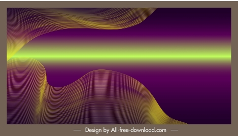 decorative background shining colored dynamic waving lines 3d