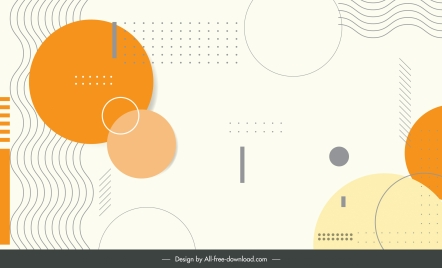 decorative background template classic abstract flat geometric decor