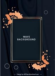 decorative background template elegant dark grunge frame