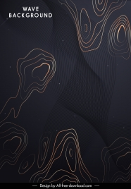 decorative background template waving deformed shapes sketch