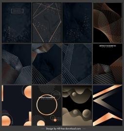 decorative background templates modern dark dynamic abstract design