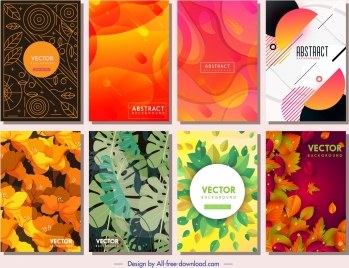 decorative background templates nature abstract themes decor