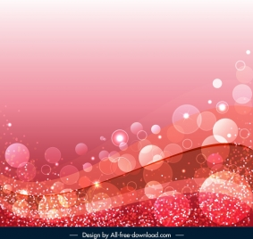 decorative background twinkling transparent circles curves pink decor