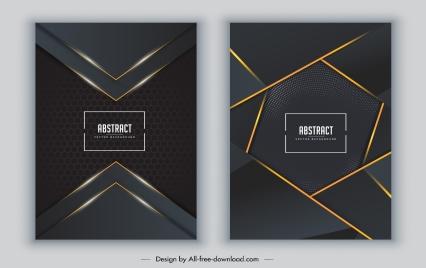 decorative cover templates technology theme elegant dark