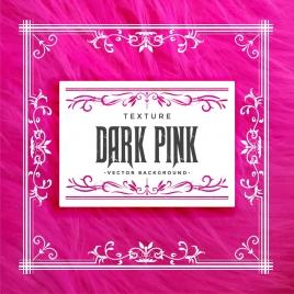 decorative frame background pink classical symmetric decor