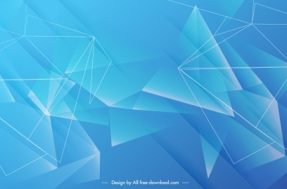 decorative geometric background modern blue 3d crystals sketch