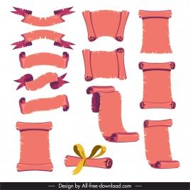 decorative parchment templates vintage 3d sketch