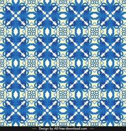 decorative pattern blue classical symmetric repeating design