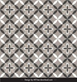 decorative pattern classical flat petals decor retro symmetric