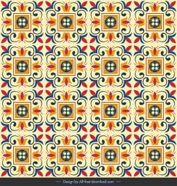 decorative pattern classical symmetric repeating squares curves decor