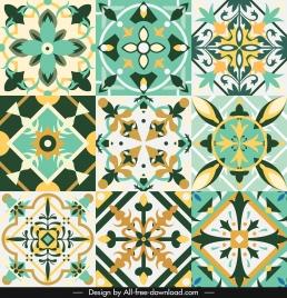 decorative pattern collection colorful elegant symmetric illusion shapes