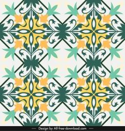 decorative pattern colorful classical symmetric flat design