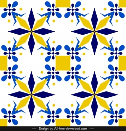 decorative pattern colorful elegant abstract symmetric flat design