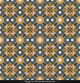 decorative pattern colorful flat symmetric repeating illusion