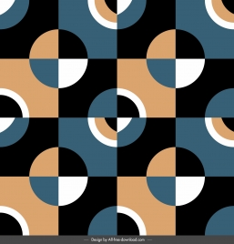 decorative pattern dark flat retro circles decor