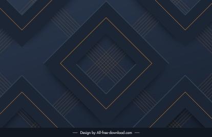 decorative pattern dark modern 3d repeating geometric design