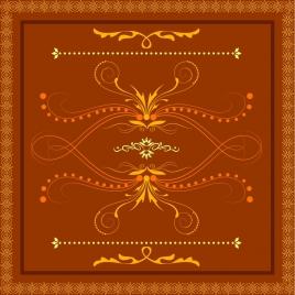decorative pattern design elements orange classical style