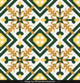 decorative pattern flat classical symmetric european design