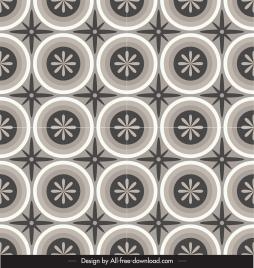 decorative pattern flat flora circle sketch repeating classic