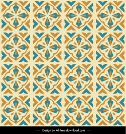 decorative pattern flat repeating symmetric classical flower sketch