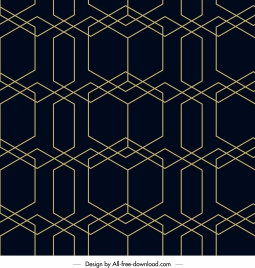 decorative pattern illusive flat lines symmetric design