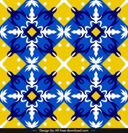 decorative pattern multicolored flat formal european symmetric design