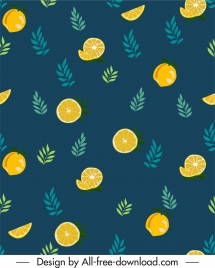 decorative pattern orange leaf sketch flat classic design