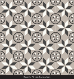 decorative pattern retro flat repeating symmetric design