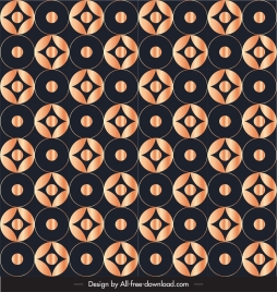 decorative pattern shiny dark repeating symmetric circles