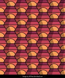 decorative pattern template abstract illusion symmetrical decor