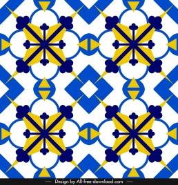 decorative pattern template bright colorful symmetric repeating design