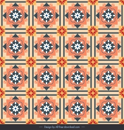 decorative pattern template colorful classical symmetric repeating squares