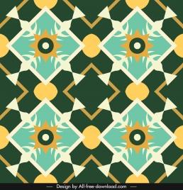 decorative pattern template colorful flat symmetric illusion