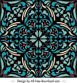 decorative pattern template colorful flat symmetric vintage shape