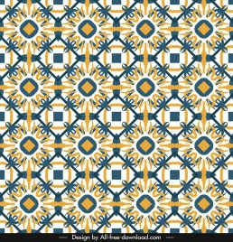 decorative pattern template flat repeating symmetrical seamless decor