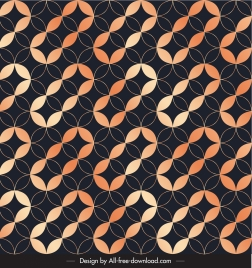decorative pattern template illusive repeating seamless circles shape