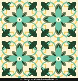 decorative pattern template petals sketch colorful classic symmetric