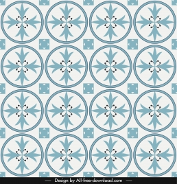 decorative pattern template repeating circles symmetric flora shapes