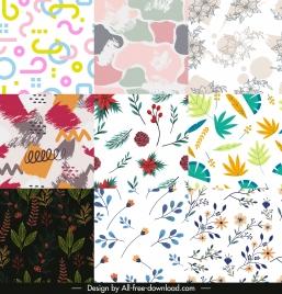 decorative pattern templates colorful flat modern classic design