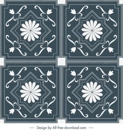 decorative pattern templates elegant classical symmetrical shapes