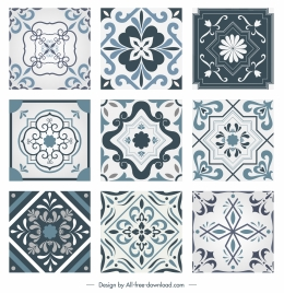 decorative pattern templates elegant european classic symmetry shapes