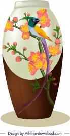 decorative vase icon classical oriental design