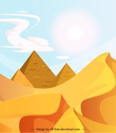 desert scene painting bright colored classic design