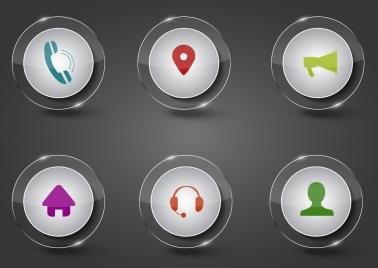 digital button sets shiny circles ornament