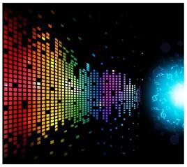 Digital Music Background