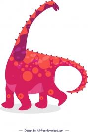 dinosaur background apatosaurus icon colored cartoon sketch