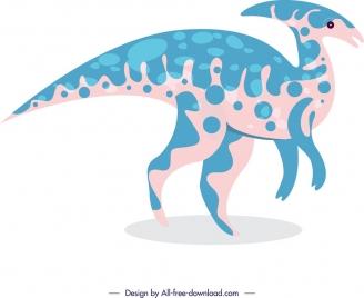 dinosaur background parasaurolophus icon cartoon sketch