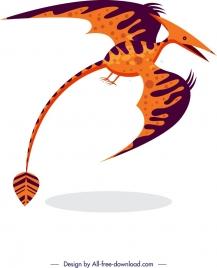 dinosaur background pteranodon icon colored cartoon sketch