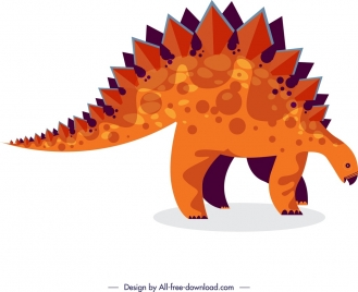 dinosaur background stegosaurus icon colored cartoon sketch