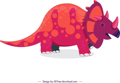 dinosaur background triceratops icon colored cartoon sketch